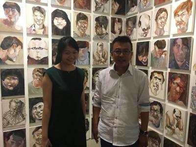 大学院の指導教授劉小東先生と江上越