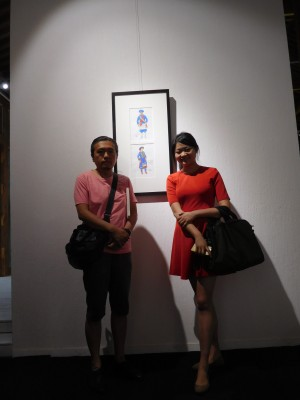 左)油絵科第二工作室の馬晓腾先生と