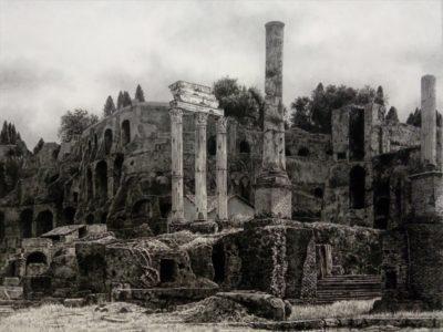 中島淳志《Ruin -Foro Romano-》 30F 墨、大濱紙